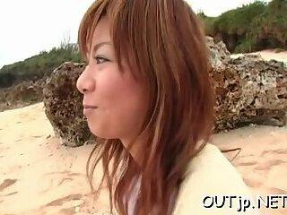 Astounding Aki Katase and huge dink