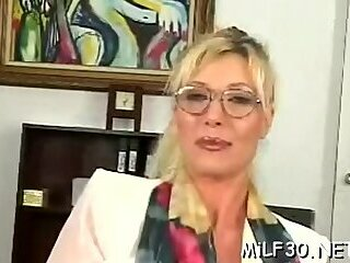 Delicious blonde cougar cannot get enough of sex