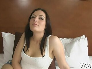 Topnotch perfection Zena Little riding a big shlong