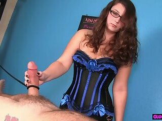 Busty massage babe tugs clients cock