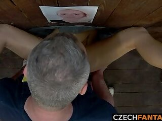 Beautiful Glory Hole Girls Get Huge Load of Cum