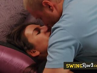 New couples fuck hard in the Red Orgy Room. New episodes of american open swing house.
