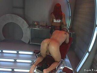 Busty Alien shemale anal fucks dude