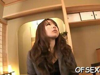 Appetizing exotic lady Shiina deepthroats a big pole