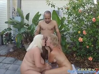 Threesome with granny