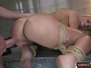 Submissive beauty fucked and jizzcovered
