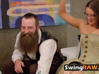 Couples try swinging for the 1st time.