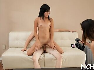 Sugary brunette youngster Cali Doe fucks on camera