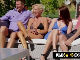 Swingers join sexual and erotic journey in swing house