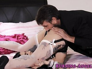 Gothic maid ass fucked