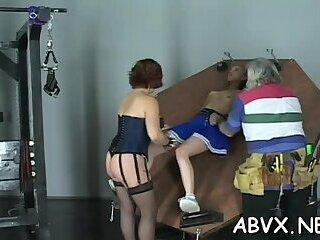 Intense bondage with mature