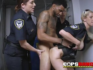 SEXY ebony THUG fucks BUSTY cop hardcore CFNM