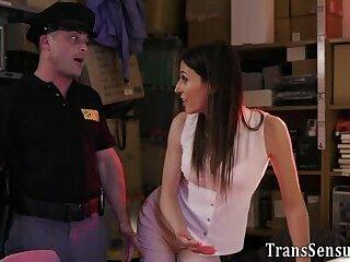 Trans babe gets spermed