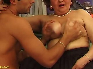 chubby big boob hairy grandma needs hard fucking by her young big cock toyboy