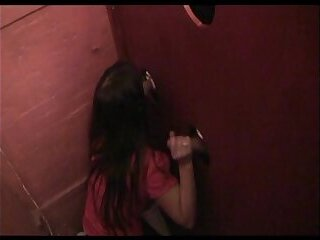 Glory hole for 2 mothers in a libertines club