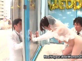Japanese Asian Wedding Sex Public Glass Walls 2