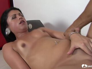 Amazing brunette girl loves to get ass fucked