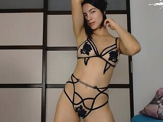 Brunette Amateur Teen in sexy Lingerie Stripping on webcam