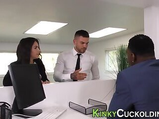 Latin whore takes big black cock in ass