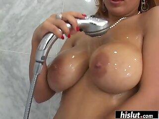 Latina has fun with a huge rod
