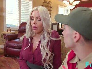 FILF Busty MILF Nina Elle Fucks A Lucky Boyscout