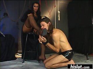 Dominant tranny teases her partner
