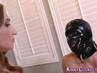 Kinky domina fucks black studs