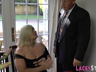 Mature blonde grandma get ass fucked