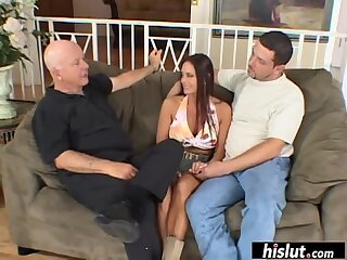 Voluptuous brunette cheats on her husband