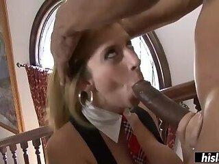 Sarah Jay gags on a monster schlong