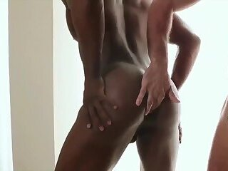 Bare Fuck with passion black and white hunks