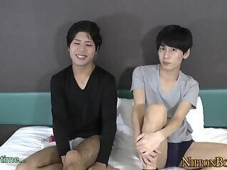 Japanese twink rimming ass