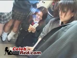 Screenshot video japanese handjob in train japanese