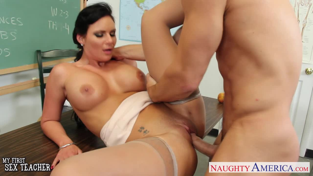 hardcore teacher movies - Chesty teacher Phoenix Marie take cock in classroom