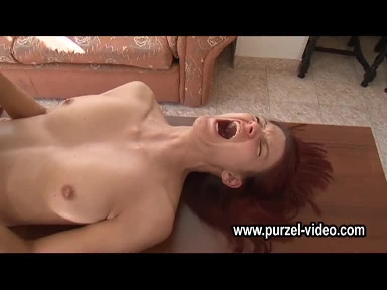 Beautiful redhead crying first anal time.