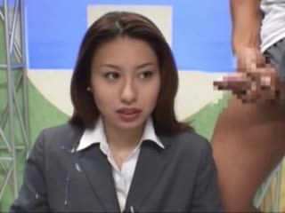 Bukkake japaneses newsreader